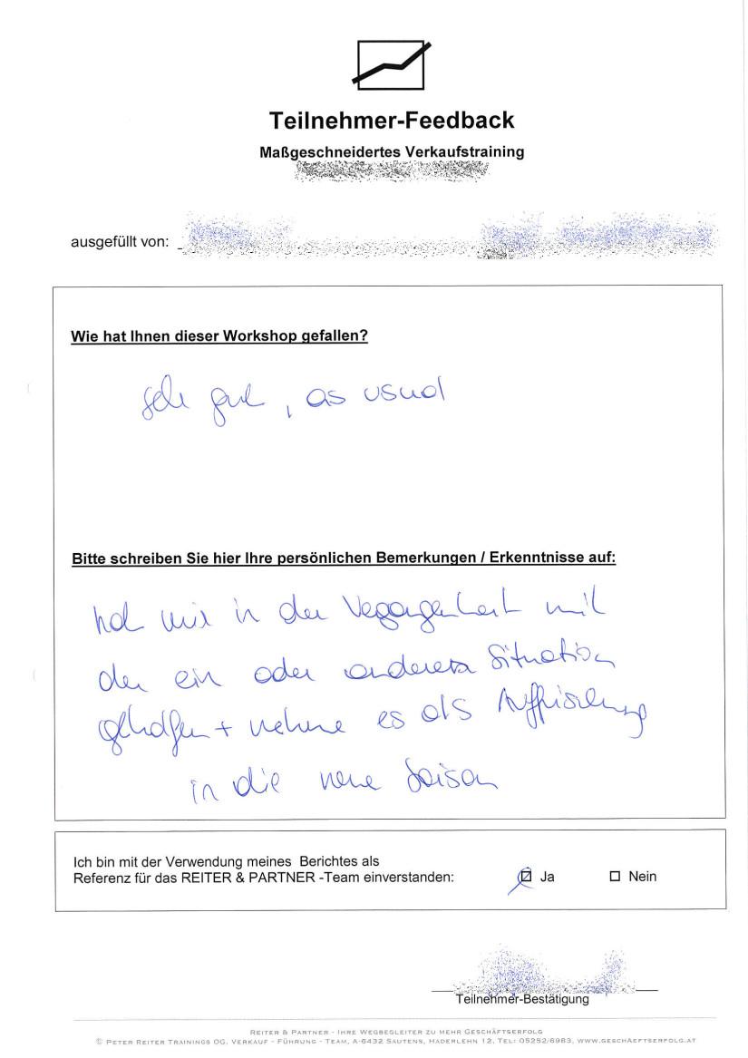 Verkaufsschulung in Vorarlberg